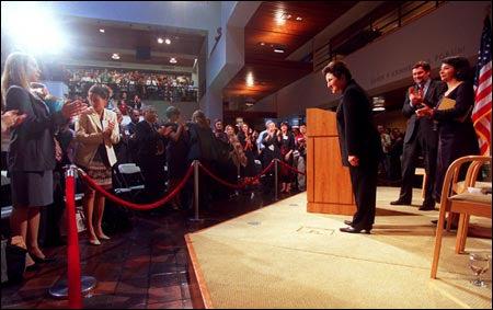 Ebadi receiving standing ovation