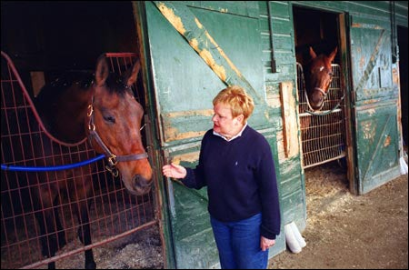 Susan Rodliff with horses