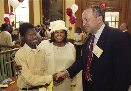 Ismahil Olanrewaju, Sybil N. Knight, President Lawrence H. Summers