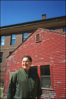 Silvera outside shed