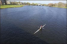 scull on the Charles