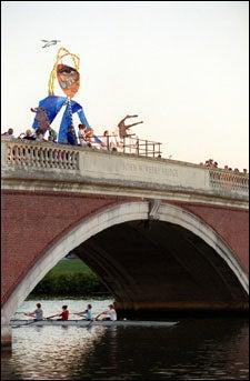 decorations on the bridge