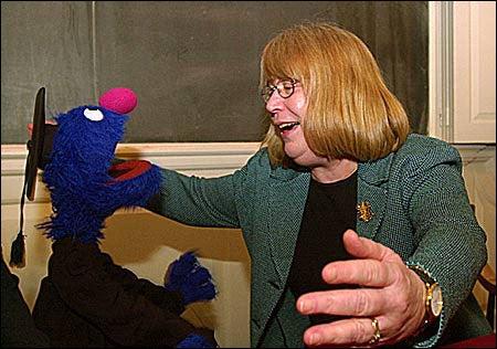 Grover, HGSE Dean Ellen Lagemann