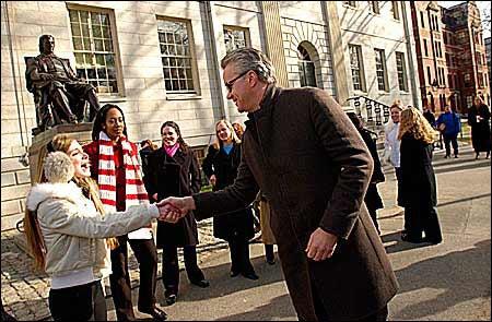 Robbins in Harvard Yard