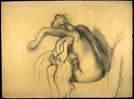 Degas bather