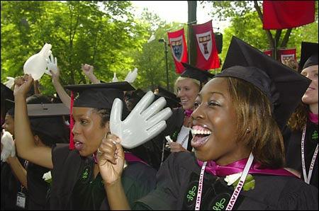 Ecstatic Medical School grads