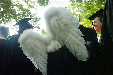 angel wings on graduate