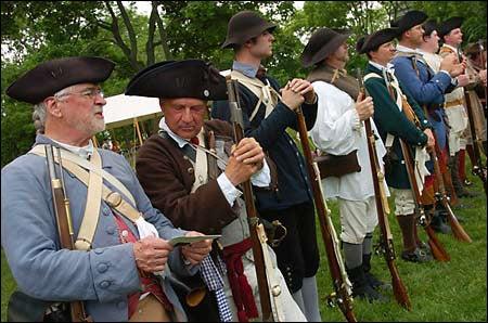 Revolutionary Army re-enactors