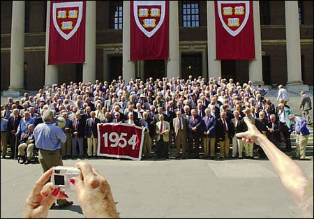 Class of 1954 poses for their reunion photo