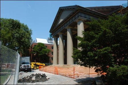 Memorial Church under construction