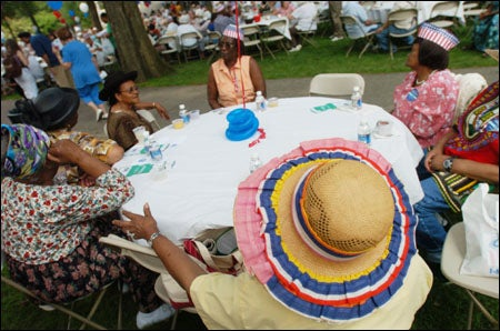 Ladies in their picnic hats