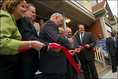Honan family with Mayor Menino, Michael E. Capuano