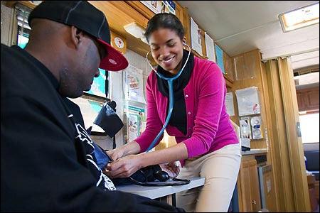 patient Hood, med student Burroughs