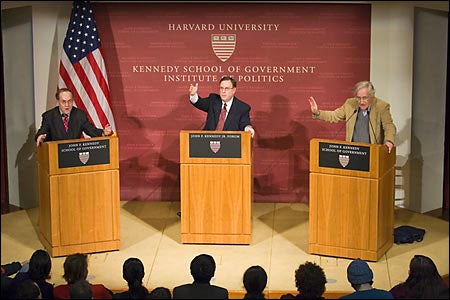 Alan Dershowitz, Brian Mandell and Noam Chomsky