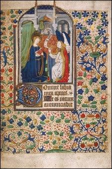 Annunciation scene