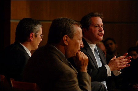 Lawrence H. Summers leads a discussion