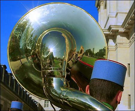photograph of tuba