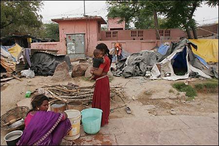 Impoverished area of New Delhi