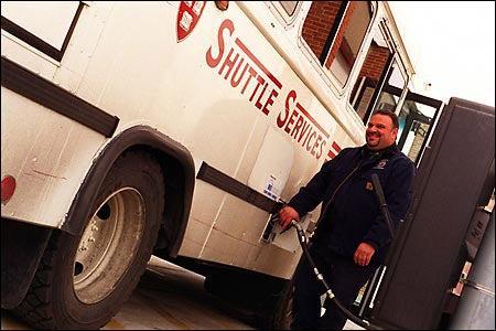 Biodiesel bus fuels up