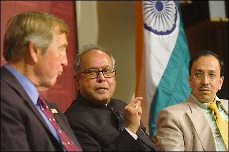 Pranab Mukherjee, Graham Allison, Sugata Bose