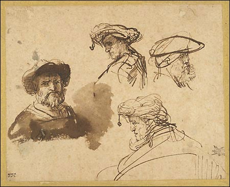 'Four Studies of Male Heads'