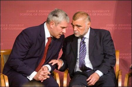 Boris Tadic and Stjepan Mesic