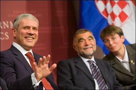 Tadic and Mesic smiling