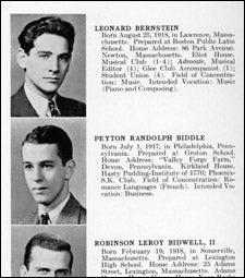 Bernstein yearbook page
