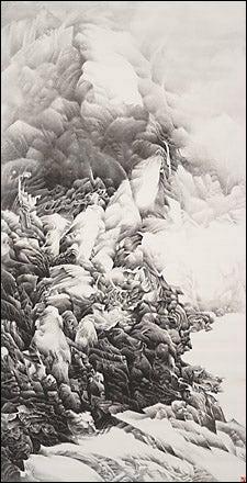 Hanging scroll; Liu Dan