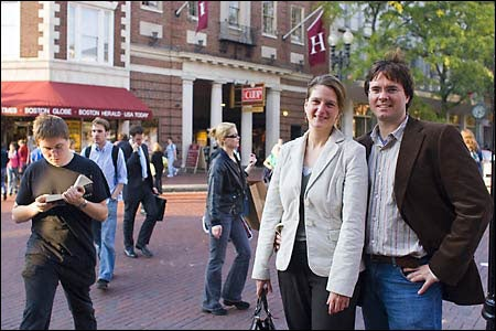 dual-career couple in Harvard Square