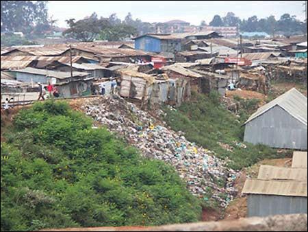 view of Kibera