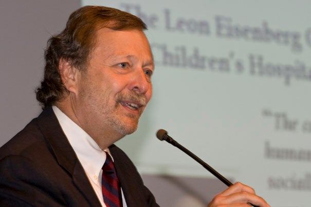 In a symposium on the medical legacy of Leon Eisenberg, David DeMaso, who will hold the first chair named in honor of Eisenberg, said his old friend 'stood up and spoke for what was important.'