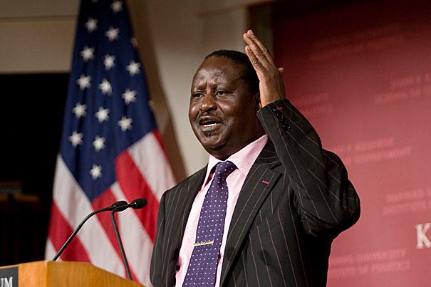 """""""Africa is not condemned to poverty. I believe strongly that we can transform the 21st century to be the 'African Century,'"""" said Raila Odinga, Kenya's prime minister."""
