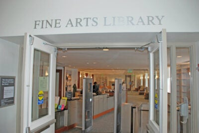 The Fine Arts Library is now open in its temporary space in the Littauer Building in the North Yard.