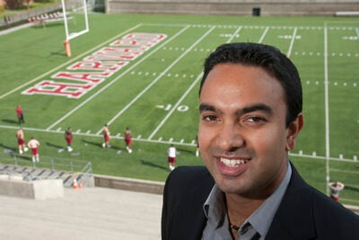 Ashwin Krishnan and fellow HLS students saw an opening — sports and entertainment law — and ran with it.