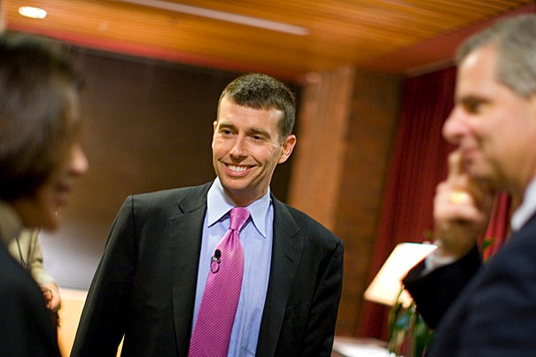 David Plouffe, Campaign Manager, Obama Presidential Campaign. Staff Photo Justin Ide/Harvard University News Office
