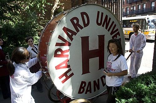 The Harvard Band performed for freshmen