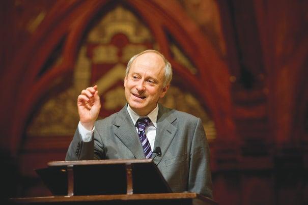 "Michael Sandel ""became hooked"" on philosophy in graduate school."
