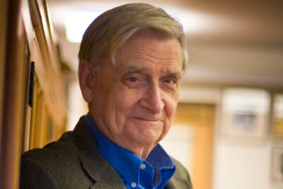 Edward O. Wilson was honored by King Carl XVI Gustaf of Sweden for his contributions to biodiversity research and assistance to the Swedish government during the Linnaeus centennial year.