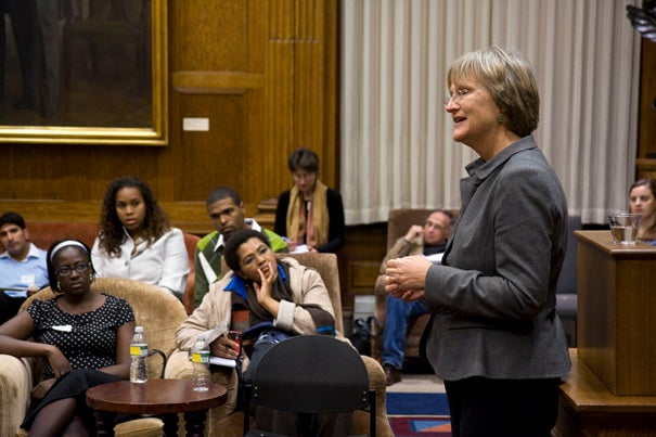 Harvard President Drew Faust talks about her November trip with students from Africa.