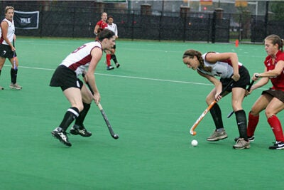 Junior forward Chloe Keating (#24) notched her seventh and eighth goals of the season on Saturday (Oct. 3).