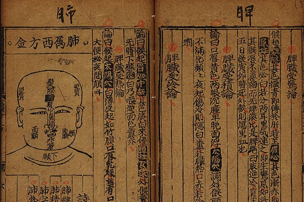 An item from the Harvard-Yenching Chinese rare book collection, which will be digitized as part of the landmark project.