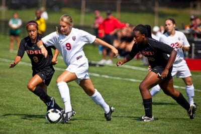 Crimson forward Katherine Sheeleigh '11 was named to the Top Drawer Soccer National Team of the Week. She has five goals and three assists this season.