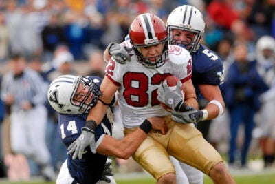 """Harvard senior wide receiver Matt Luft '10 and the Crimson travel to New Haven, Conn. for the 126th edition of """"The Game."""""""