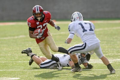 Crimson running back Gino Gordon '10 had 222 all-purpose yards and three touchdowns in the Crimson's 41-21 victory over Dartmouth.