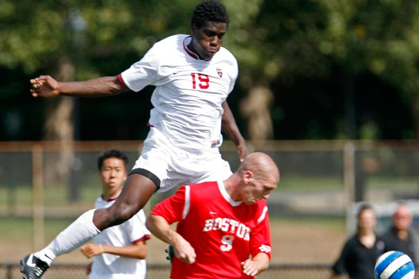 Senior Kwaku Nyamekye tallied his first goal of the season on Saturday (Oct. 31) in the Crimson's 2-1 win over Dartmouth.
