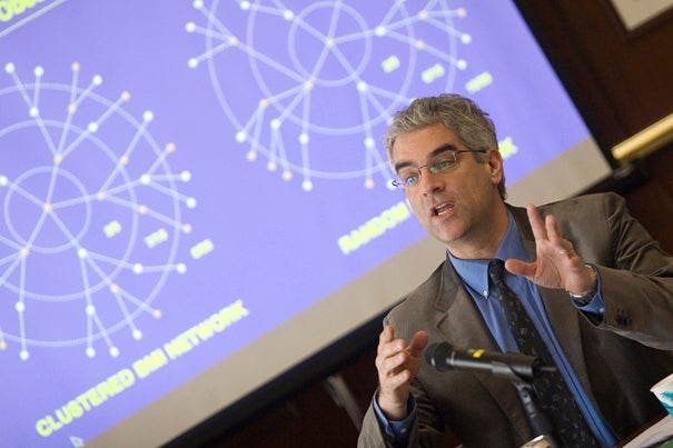 """Nicholas Christakis: """"All kinds of bad things spread through social networks: suicide, germs, drug abuse, unhappiness."""" But good things come too."""