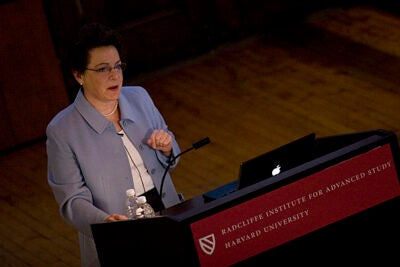 Radcliffe Dean Barbara J. Grosz says her goal is to advance research and to promote cooperation among faculty members by providing them with resources and space that foster collaboration.