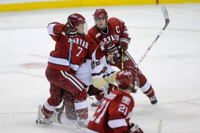 The Crimson struggled to find their rhythm in their 4-1 loss to Northeastern on Monday (Feb. 8).