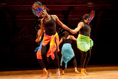 "The Harvard for Haiti benefit concert, Sanders Theatre. The Caribbean Club Dance Team performs ""Simplement Danse,"" choreographed by Akilah Crichlow '10.News Office"